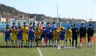 Sử dụng đội hình B, U23 Việt Nam bị sinh viên Yeongnam cầm hòa