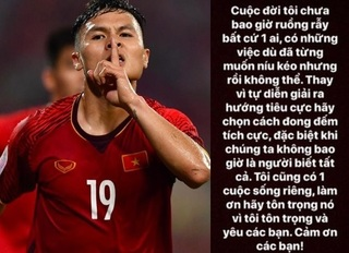 Bị soi mói quá nhiều về đời tư, Quang Hải kêu gọi 'làm ơn hãy tôn trọng'