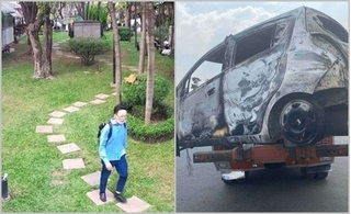 Công bố hình ảnh nghi can sát hại người phụ nữ Hàn Quốc, đốt ô tô phi tang