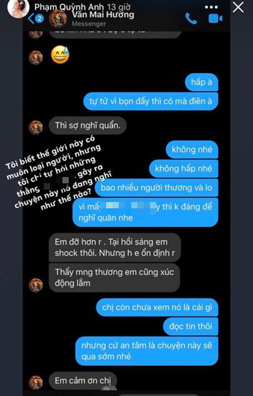 Phạm Quỳnh Anh tiết lộ tình trạng hiện tại của Văn Mai Hương 2