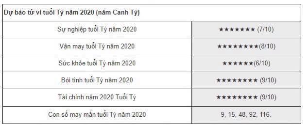 Tử vi 2020 chi tiết cho các tuổi Tý