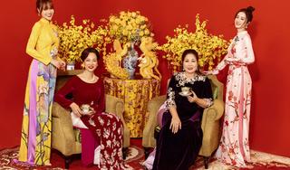 Đại gia đình giàu có của Ninh Dương Lan Ngọc diện áo dài, hát Rap chúc Tết