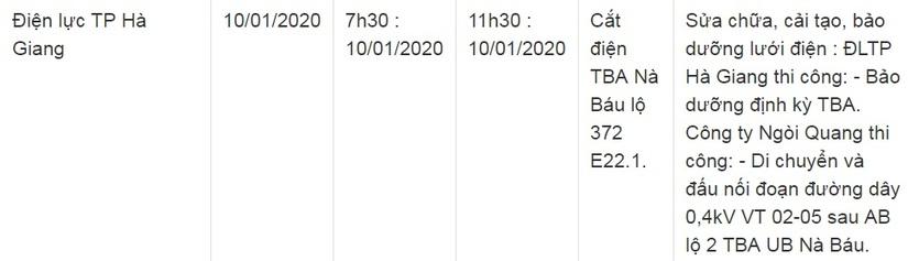 Thông báo lịch cắt điện ở Lạng Sơn ngày 10/1 và 11/13