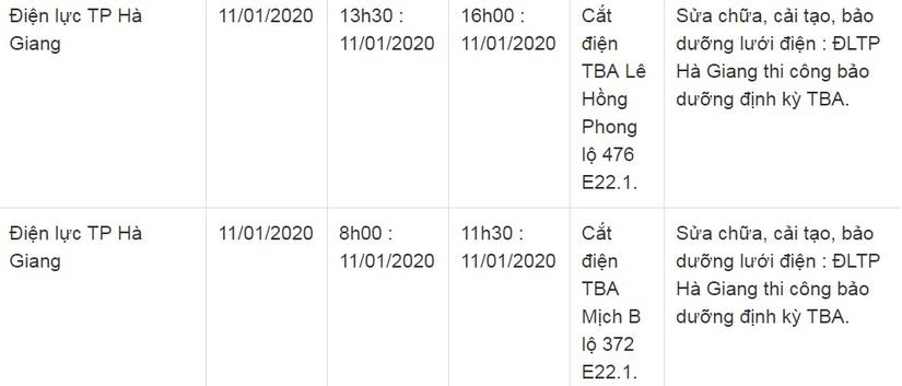 Thông báo lịch cắt điện ở Lạng Sơn ngày 10/1 và 11/17