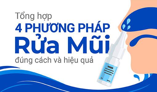 rửa mũi đúng cách