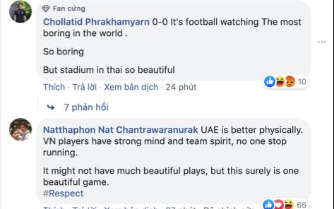 CĐV Thái Lan chê Việt Nam không thắng được U23 UAE