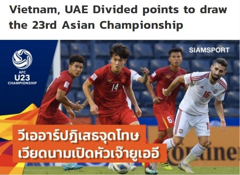 Tuyển U23 Việt Nam thoát thua nhờ VAR