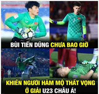 Ảnh chế hài hước trận U23 Việt Nam - U23 UAE: Bùi Tiến Dũng hóa người hùng