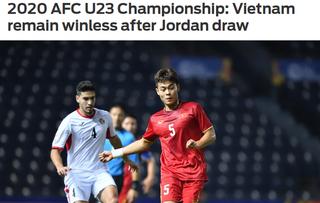 Báo châu Á thất vọng với màn thể hiện 'nhạt nhòa' của U23 Việt Nam
