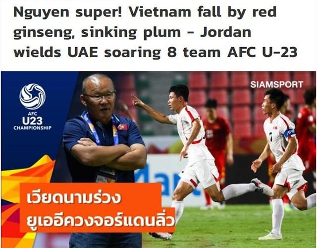 Báo Thái Lan nói gì về màn trình diễn tệ hại của U23 Việt Nam