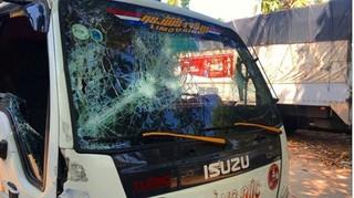 Nhóm thanh niên đập phá ô tô, hành hung tài xế và phụ xe trên QL1
