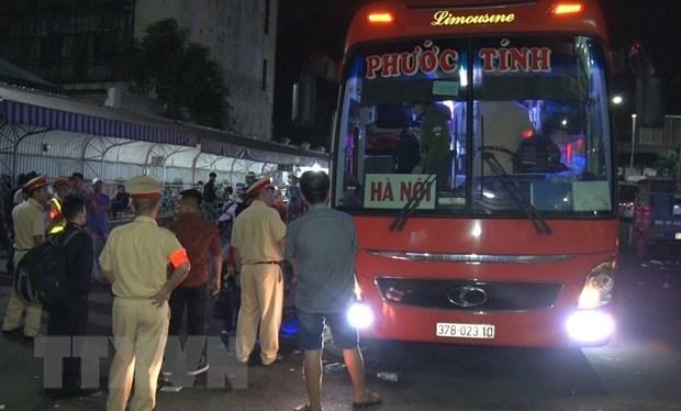 Xe khách 45 chỗ tuyến Thành phố Hồ Chí Minh đi Nghệ An chở gần 100 người