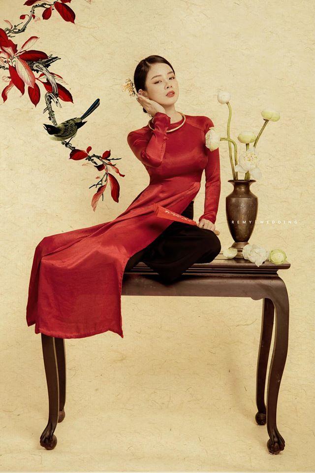 DJ Mie bật mí lý do năm nào cũng chụp ảnh với áo dài truyền thống9