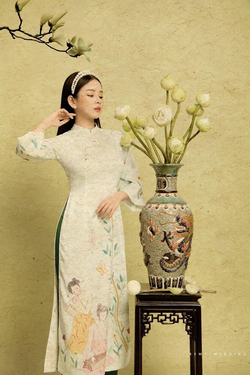 DJ Mie bật mí lý do năm nào cũng chụp ảnh với áo dài truyền thống5