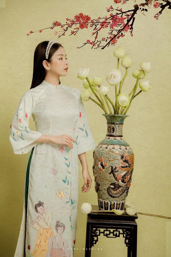 DJ Mie bật mí lý do năm nào cũng chụp ảnh với áo dài truyền thống6