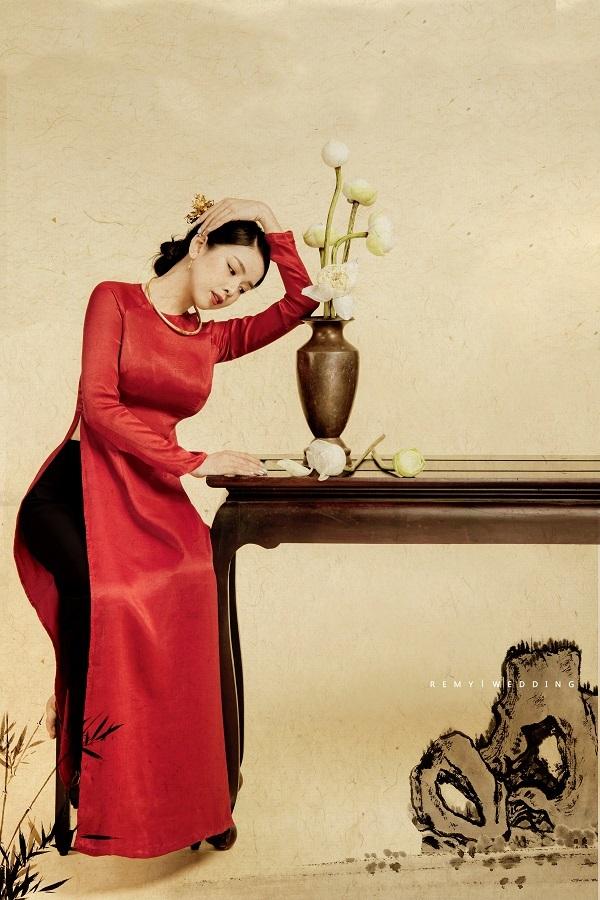 DJ Mie bật mí lý do năm nào cũng chụp ảnh với áo dài truyền thống2