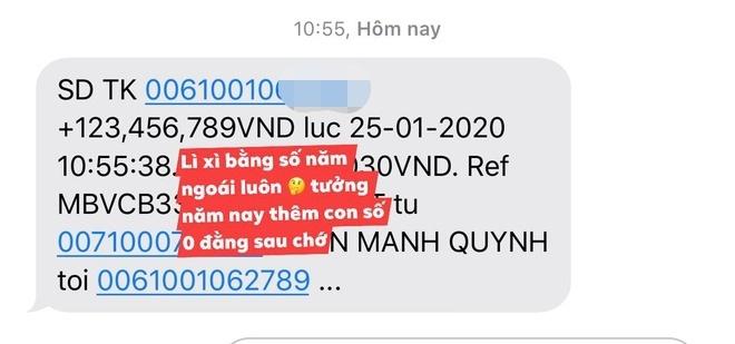 Đầu năm mới, Phan Mạnh Quỳnh lì xì bạn gái hơn 123 triệu đồng