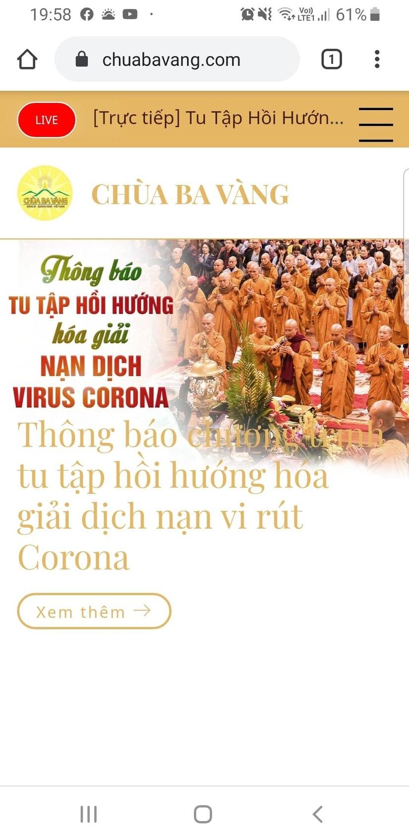 Sư trụ trì chùa Ba Vàng tái xuất, chỉ cách hóa giải nạn dịch virus Corona 2