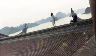 Phẫn nộ cặp đôi trèo lên nóc chùa Tam Chúc chụp ảnh