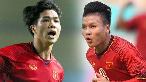 Tiền đạo Công Phượng đối đầu Quang Hải ở Siêu Cup quốc gia
