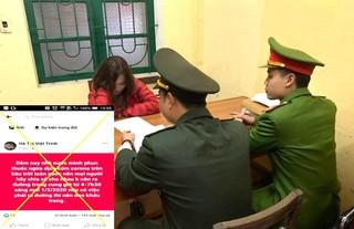 Cô gái Thanh Hóa phao tin giả 'phun thuốc ngừa dịch cúm corona trên bầu trời toàn quốc'