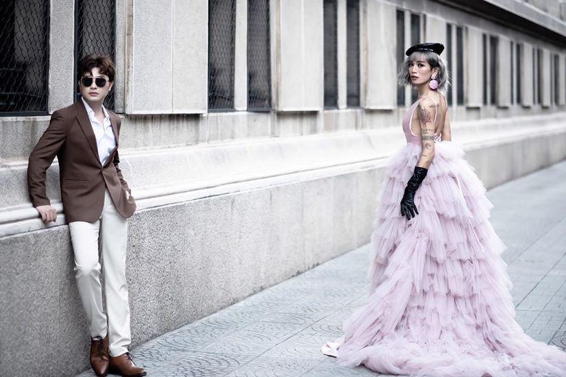 BB Trần nhá hàng bộ ảnh cưới 3 concept đẹp và chảnh bên người yêu14