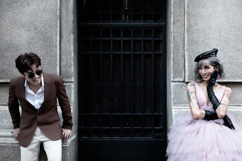 BB Trần nhá hàng bộ ảnh cưới 3 concept đẹp và chảnh bên người yêu17