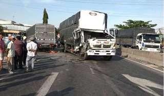 Chạy ngược chiều trên QL1, xe tải gây tai nạn nghiêm trọng