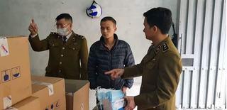 Phát hiện 50 thùng khẩu trang do người Trung Quốc thu gom