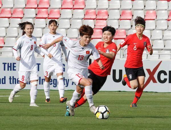 tuyển nữ Việt Nam không làm nên bất ngờ trước Hàn Quốc
