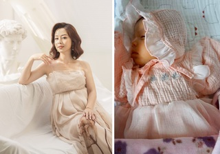Jennifer Phạm lần đầu khoe mặt con gái thứ 4 cực đáng yêu