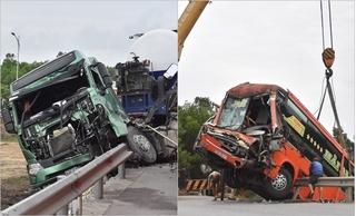 Kết quả nồng độ cồn của tài xế xe đầu kéo và 2 xe khách đâm liên hoàn ở Huế