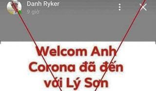 Ví vợ là virus corona, giảng viên đại học bị công an mời lên làm việc