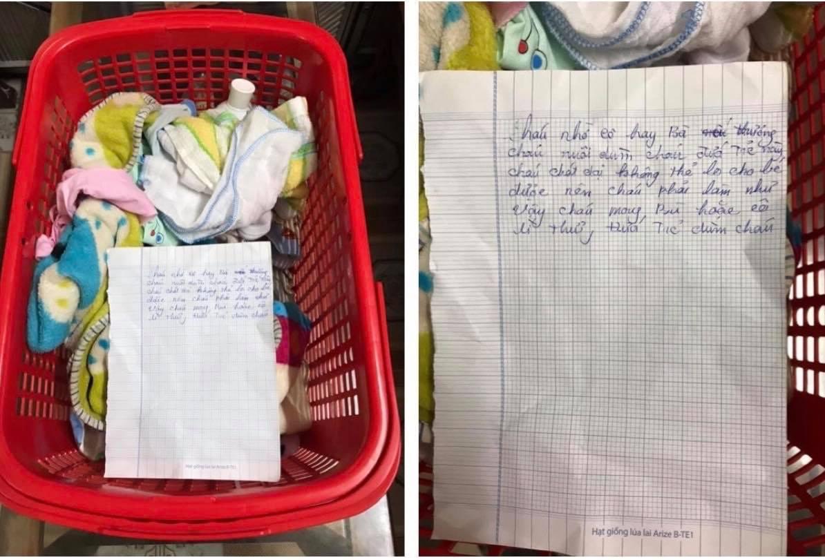 Bé gái sơ sinh bị bỏ rơi ở nhà dân, người mẹ để lại tâm thư nhờ nuôi hộ