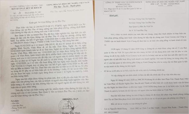 Xét nghiệm Covid-19 của lái xe khách Nghệ An bị sốt sau khi trở về từ Vĩnh Phúc