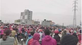 Hàng trăm công nhân ở Hà Nam bất ngờ đình công vì lo sợ Covid-19