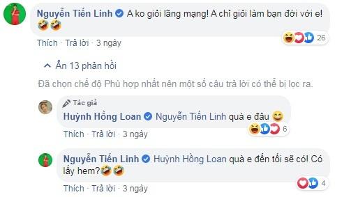 Tiền đạo Tiến Linh công khai thả thính nữ diễn viên 9X xinh đẹp3