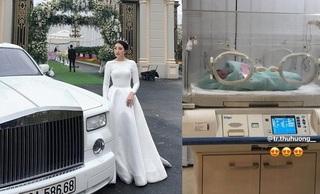 'Cô dâu 200 cây vàng' ở Nam Định đã sinh con, hé lộ rich kid 'ngậm thìa vàng' từ trứng nước?