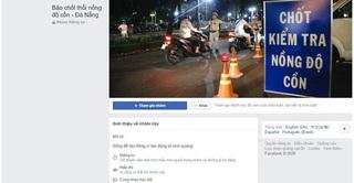 Xử lý 2 người đàn ông chuyên báo 'chốt' kiểm tra nồng độ cồn qua Facebook cho 'ma men' tránh