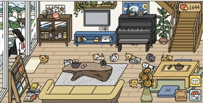 Trang trí căn nhà trong game nuôi mèo
