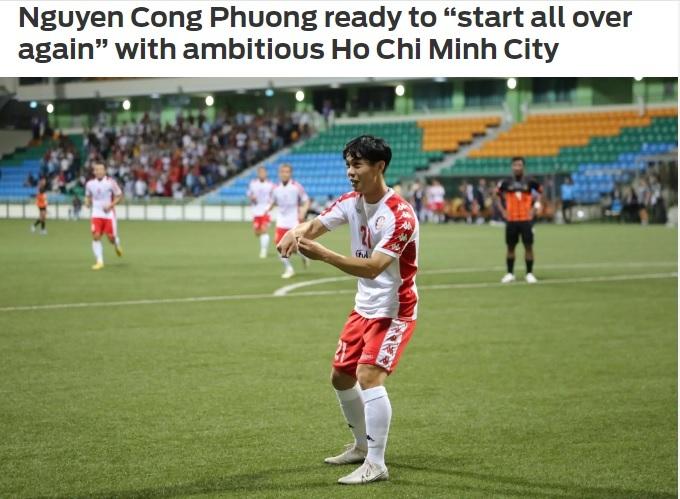 Tiền đạo Công Phượng khiến tốn sau khi giúp CLB TP HCM đánh bại Hougang United