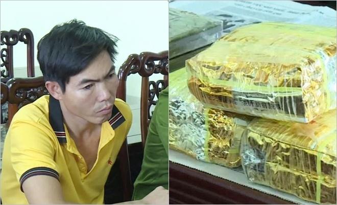 Công an Nghệ An truy đuổi taxi chở kẻ ôm lượng lớn heroin