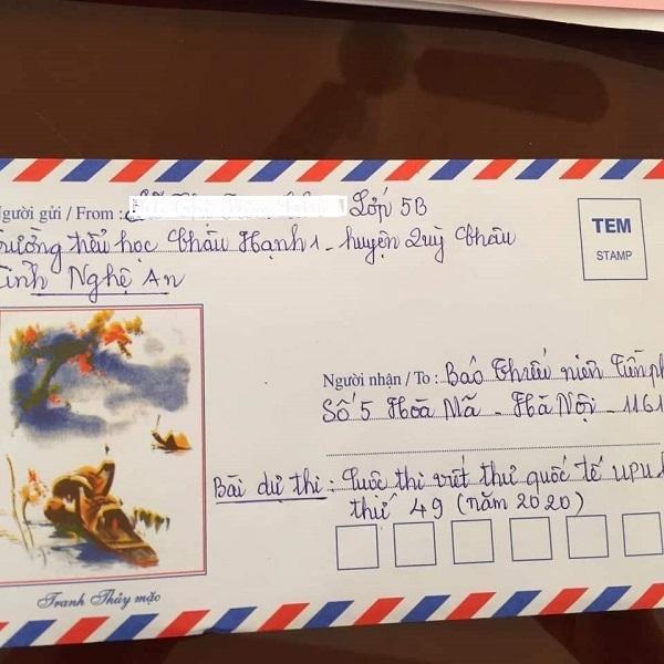 Bé gái lớp 5 thông qua cuộc thi viết thư UPU để gửi những lời tâm sự đến mẹ