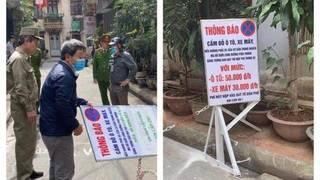 Người dân tự ý lập barie thu tiền phí trông xe giữa Thủ đô