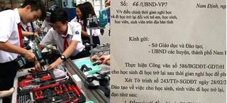Nam Định thông báo đổi lịch đi học lại sau đề nghị của Bộ GD-ĐT