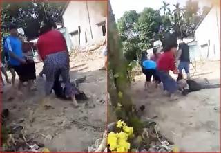 Phẫn nộ cô gái trẻ cầm gậy đánh bác ruột 74 tuổi đổ gục xuống đất