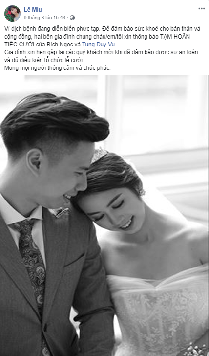 Cặp đôi Hà Nội hoãn cưới vì dịch Covid-19 được dân tình rần rần ủng hộ