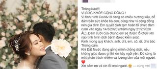 Mời xong xuôi 700 khách, cặp đôi Bình Thuận vẫn hoãn cưới vì dịch Covid-19