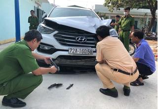Đại úy công an bị ô tô phóng 100km/h tông trúng đã hy sinh