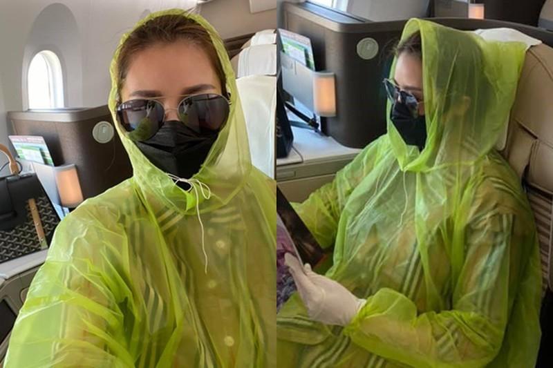 Mặc áo mưa đi sân bay là cách Quế Vân, Dương Tử, Naomi Campbell chống dịch Covid-19